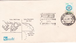 LAS MALVINAS SON ARGENTINAS. OBLIT BUENOS AIRES 1982. ARGENTINA.- BLEUP - Falkland Islands