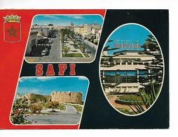 MAROC SAFI / CPM Multivues - 3 - Voyagée 1981 / Timbre De 1980 /  Un Coin Plié !! - Altri