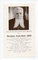 Image Pieuse: Monseigneur Charles Martin Lagier, Oeuvre D'Orient, Lille, Gniezno, Liban, Legion D'Honneur, 1958 - Devotion Images