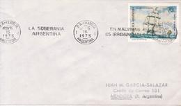 BANDELETA PARLANTE: LA SOBERANIA ARGENTINA EN MALVINAS ES IRRENUNCIABLE. OBLIT BUENOS AIRES 1973.- BLEUP - Falkland Islands