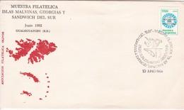 MUETRA FILATELICA ISLAS MALVINAS, GEORGIAS Y SANDWICH DEL SUR. JUNIO 1982 GUALEGUAYCHU, ENTRE RIOS. ARGENTINA.- BLEUP - Falkland Islands