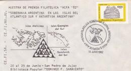 ACFA 82. SOBERANIA ARGENTINA ISLAS DEL ATLANTICO SUR Y ANTARTIDA ARGENTINA. OBLIT S PEDRO DE JUJUY 1982.- BLEUP - Argentina