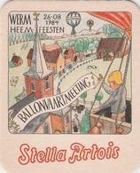 Viltje  Stella  Artois   - Werm  1984 - Beer Mats