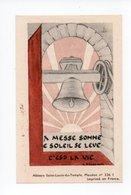 Image Pieuse: Benediction De La Cloche Sainte Marie, Bouzonville, 1948, Chanoine Morhain, Cure N. Schwartz (18-1891) - Devotion Images