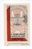 Image Pieuse: Benediction De La Cloche Sainte Marie, Bouzonville, 1948, Chanoine Morhain, Cure N. Schwartz (18-1895) - Devotion Images