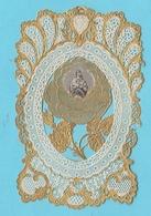 8AK1284 Canivet Dentelle 19e Image Pieuse Holy Card Santino VIERGE ET ENFANT DORURE 2 SCANS - Devotion Images