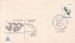 SOBERANIA ARGENTINA EN LA ZONA AUSTRAL. OBLIT BUENOS AIRES 1984. SOBRE ENVELOPE SPC.- BLEUP - Argentina