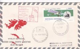 VUELO ESPECIAL BUENOS AIRES-PUERTO ARGENTINO-ISLAS MALINAS. 1982. ARGENTINA- BLEUP - Airmail