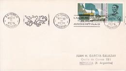 LAS MALVINAS SON ARGENTINAS, BANDELETA PARLANTE. OBLIT BUENOS AIRES 1975. ARGENTINA- BLEUP - Falkland Islands