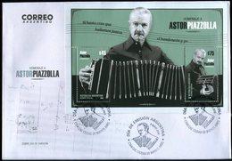 Argentina - Sobre FDC Homenaje A Astor Piazzolla (emisión Año 2018) - FDC