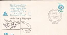 SALON LITERATURA FILATELICA SOBRE ISLAS MALVINAS GEORGIAS DEL SUR Y SANDWICH. OBLIT BUENOS AIRES 1982. ARGENTINA- BLEUP - Argentina