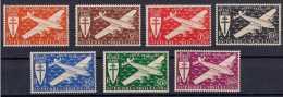 1943 St. Pierre Et Miquelon - London Issue - Airplanes Over Ocean France Libre - MNH** MI 317-323 (xdr) - St.Pierre & Miquelon