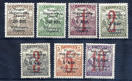 WEST HUNGARY 1921 (2 Oct.) Surcharges Set Of Seven  MH / *.  Michel 62-68 - Hungary