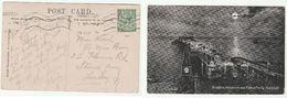 1917 Brighton GB Stamps Cover (postcard Brighton Aquarium & Pier) Gv - 1902-1951 (Kings)