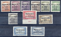 WEST HUNGARY 1921 (16 Oct.) Overprint Set Of Eleven  MH / *.  Michel 32-42 - Hungary