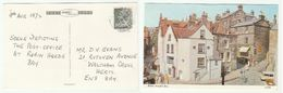 1972 Robin Hood's Bay Postcard Depicting Post Office, Gb Stamps Cover Cds Pmk - York