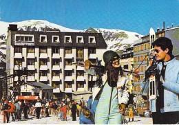 ANDORRE Andorra - PAS DE LA CASE : Hotel Restaurant LE SPORTING - Jolie CPMS Animée Grand Format - - Andorra