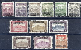 WEST HUNGARY 1921 (5 Oct.) Overprint Set Of Eleven Plus 2.50 K. Surcharge  MH / *.  Michel 20-31 - Hungary