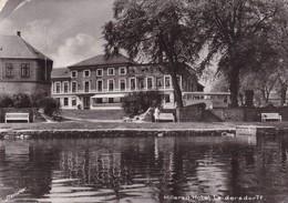 Postcard Hillerod Hotel Leidersdorff Denmark Real Photo PU 1956 My Ref  B22656 - Denmark