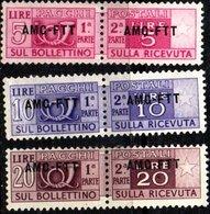 TRIESTE 1948 Parcel Post 5l, 10l 20l. (pairs) Mint - Ungebraucht