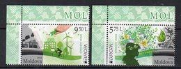 MOLDAVIE - MOLDOVA - EUROPA - VERT - THINK GREEN - 2016 - Bords De Feuillets - - Moldavie