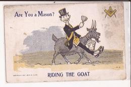Franc Maconnerie Are You A Mason Riding The Goat Masonic - Filosofía & Pensadores