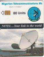 NIGERIA - Earth Station, Nigerian Telecom Plc First Issue 80 Units(3NAIFIC), Chip Siemens 37, Used - Nigeria