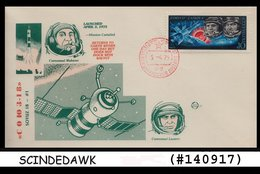 RUSSIAN - 1975 COSMONAUTICS DAY / SPACE - FDC - 1923-1991 USSR