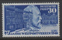 M526. GERMANY 1949.-. MI#: 116- MNG.  75 JAHRE WELTPOSTVEREIN - STEPHAN - [7] Federal Republic