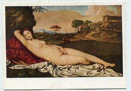 PAINTING - AK 326215 Giorgione - Schlummernde Venus - Peintures & Tableaux