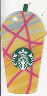 UK - Iced Frappuccino(yellow), Starbucks Mini Card, CN : 6151, Unused - Gift Cards
