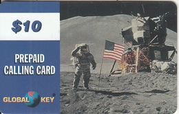 USA - Space, Astronaut, Global Key Prepaid Card $10, Used - United States