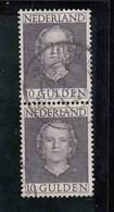 Netherlands 1949 Queen Juliana - 10 Guilden Joined Pair FU - Period 1949-1980 (Juliana)