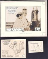 Tonga Niuafo'ou 1992 Coronation - Final Artwork, 8 Essays, Preliminary A/w, 22 Items, 5 Pictures - Tonga (1970-...)