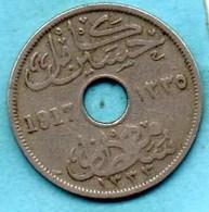 (r65)  EGYPT / EGYPTE  10 Milliemes  1335 / 1917 H  BRITISH OCCUPATION - Egypt