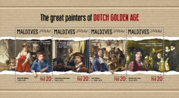 Maldives 2018  S201805  Painters Of Dutch - Maldives (1965-...)