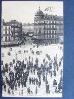 34 ,montpellier,le Marché Aux Vins En 1911     ....  Circulée Timbrée ..... - Montpellier