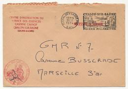 Enveloppe - Centre D'Instruction Du Service Des Essences - Caserne Carnot - CHALONS S/SAONE 1974 - Marcophilie (Lettres)