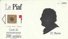 CARTE DE STATIONNEMENT   LE PIAF   200 UNITES   LYON  1994 - Frankreich