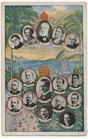 Empereur Et Presidents Du Bresil Couleur D. Pedro II , D. Pedro, D. Isabel,  Diogo Feijo,  Apaujo Lima, - Brésil