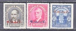 HONDURAS  307-9   *  No Gum - Honduras