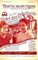 """Pourvu Qu'on Rigole, Du Film """"Hotel Des étudiants"""". - Spartiti"""