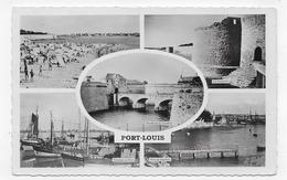 (RECTO / VERSO) PORT LOUIS - MULTIVUES - BEAU CACHET ET BEAU TIMBRE - FORMAT CPA VOYAGEE - Port Louis