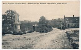 CPA - Saint-Germain-des-Grois (Orne) - Le Carrefour Et Le Monument Aux Morts De La Guerre 1914-1918 - France