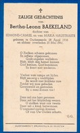 Oudenaarde, 1941, Bertha Baekeland, Haustraete - Devotion Images
