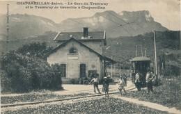 H146 - 38 - CHAPAREILLAN - Isère - La Gare Du Tramway Et Le Tramway De Grenoble à Chapareillan - Otros Municipios