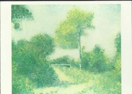 """Georges Seurat """"La Clairière"""" - Huile Sur Toile 38 Cm X 46 Cm - 1882 - Pittura & Quadri"""