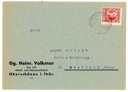 Thüringen Nr. 97 AYaz1 EF 1946 Aus OBERSCHOENAU Geprueft BPP Mi. 80 € - Zone Soviétique