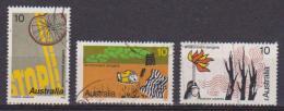 AUSTRALIA 1975 SICUREZZA STRADALE UNIF. 605-607 USATA VF - 1966-79 Elizabeth II