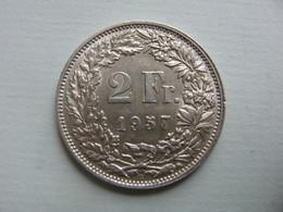 SUISSE   2 Francs  1957    Km21 - Svizzera